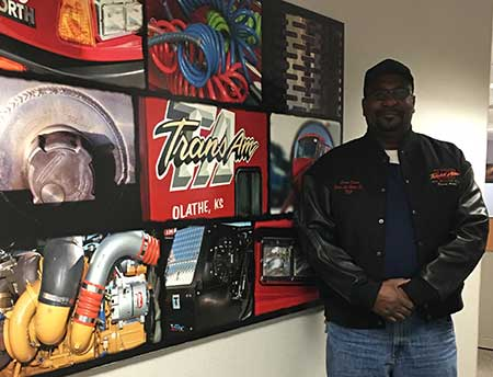 Elwin Hines received his TransAm Trucking Million Mile Jacket
