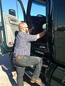 Getting into the truck: 3-Point Stance