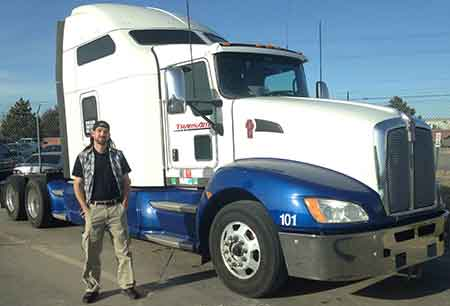 Steven Cohen pictured with his new truck.