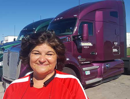 Angel Bowen is an independent contractor and driver recruiter for TransAm Trucking.