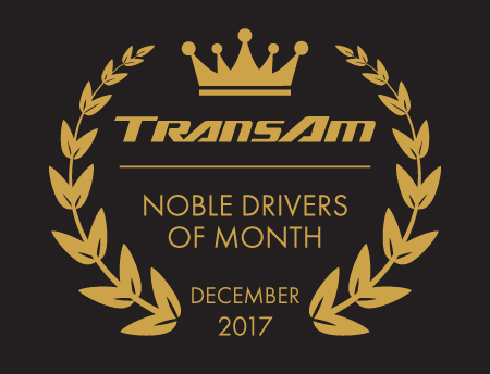 TransAm Trucking's Drivers of the Month for December 2017